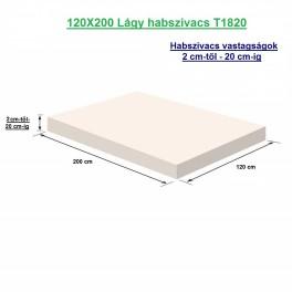 120X200 Lágy habszivacs