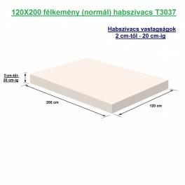 120X200 félkemény (normál) habszivacs