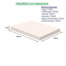140X200X3cm habszivacs
