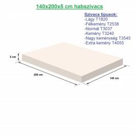140X200X5cm habszivacs