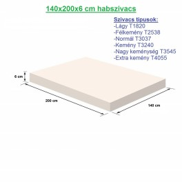 140X200X6cm habszivacs