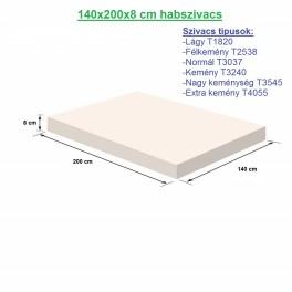 140X200X8cm habszivacs