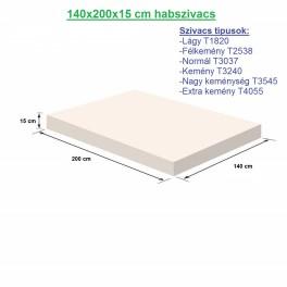 140X200X15cm habszivacs