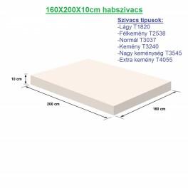 160X200X10cm habszivacs