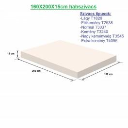 160X200X15cm habszivacs