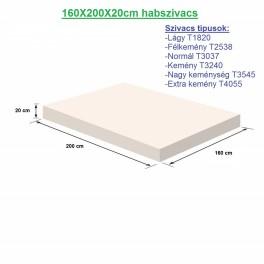 160X200X20cm habszivacs