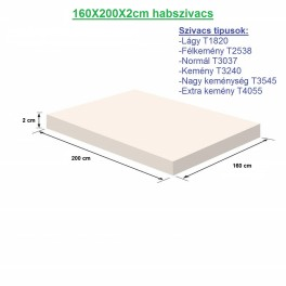 160X200X2cm habszivacs