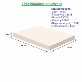 180X200X5cm habszivacs