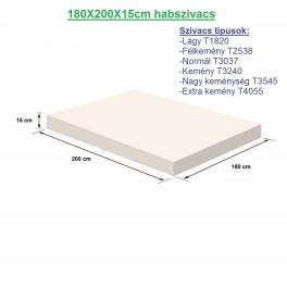 180X200X15cm habszivacs